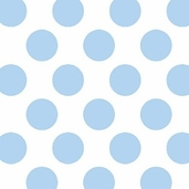 Winter Fleece Prints - Baby Dot Blue