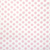 Winter Fleece Prints - Baby Medium Dot - Pink