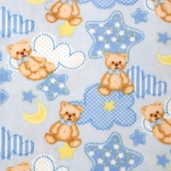Winter Fleece Prints - Baby Teddy Bear - Blue