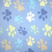 Winter Fleece Prints - Blue Paw Prints