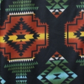 Winter Fleece Prints - Horses and Southwest Wind Runner - Black 34335-4