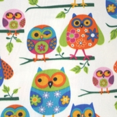 WinterFleece Fabric - Kids Owls