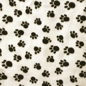 Winter Fleece Prints - Northwoods Paws - White