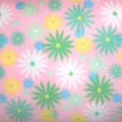 Winter Fleece Prints - Pastel Flowers