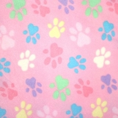 Winter Fleece Prints - Pink Paws