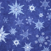 Winter Fleece Prints - Snowflakes