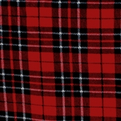 Winter Fleece Prints - Standards Classic Plaid - Red