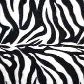 Winter Fleece Prints - Zebra Print