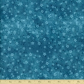 Winter Frost Dark Stars Cotton Fabric - Blue
