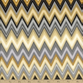 Winter's Grandeur 2 Chevron Cotton Fabric - Winter
