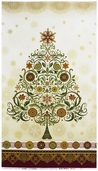 Winter's Grandeur Panel Cotton Fabric - Holiday
