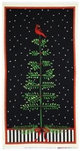 Winter's Song Panel Cotton Fabric - Black