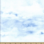 Winter Stillness Clouds Cotton Fabric - Light Blue