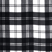 WinterFleece Double Take Plaid Polyester Fabric - Ivory