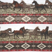 WinterFleece Fabric Aztec Rider Stripe 32607