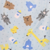 WinterFleece Fabric Baby Play Time - Blue 34367-2