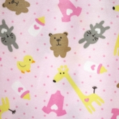WinterFleece Fabric Baby Play Time - Pink 34367-1