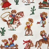 WinterFleece Fabric Cowboys and Cowgirls