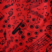 WinterFleece Fabric Good Vibrations - Red 34308-1