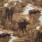 WinterFleece Fabric Grand Moose 32871