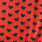 WinterFleece Fabric - Hearts - Red
