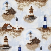 WinterFleece Fabric - Lighthouses