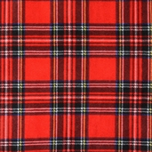 WinterFleece Fabric - Stewart Plaid - Red