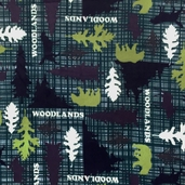 WinterFleece Woodlands Polyester Fabric - Multi
