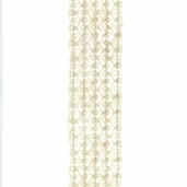 Wired Scroll Jute Ribbon - 2.5in.x24ft. - Ivory