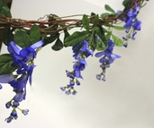 Wisteria Garland With Grape Vine - 6' - Blue