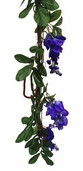 Wisteria Garland With Grape Vine - 6' - Purple