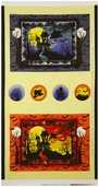 Witches Brew Ha Ha Haunted House Cotton Fabric Panel - Yellow