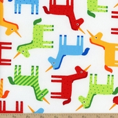 Wonder Unicorn Cotton Fabric - Bright