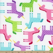Wonder Unicorn Cotton Fabric - Sweet