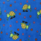 Wonderama Turtle Fleece Fabric - Blue