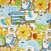 Wonderama Zoo Critters Packed Fleece Fabric - White