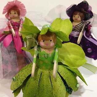 Wood Clothespin Fairies