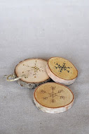 Wood Disk Ornaments / Coasters