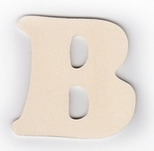 Wood Letters 'B' 3 inch