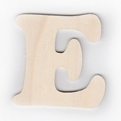 Wood Letters 'E' 3 inch