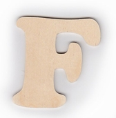 Wood Letters 'F' 3 inch