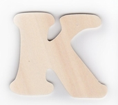 Wood Letters 'K' 3 inch