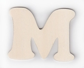 Wood Letters 'M' 3 inch