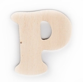 Wood Letters 'P' 3 inch