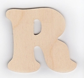 Wood Letters 'R' 3 inch