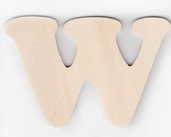 Wood Letters 'W' 3 inch