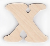 Wood Letters 'X' 3 inch