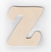 Wood Letters 'Z' 3 inch