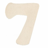 Wood Numbers 7 - 3 inch