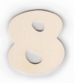Wood Numbers 8 - 3 inch